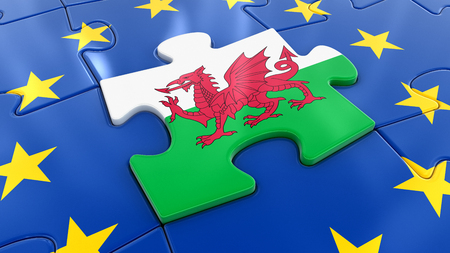Wales Jigsaw as part of EU Stock Photo