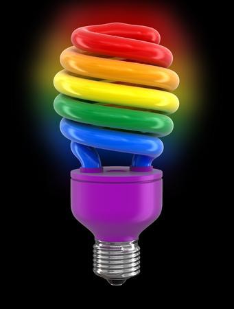 transexual: Bombilla De Ahorro De Energía Multicolor.