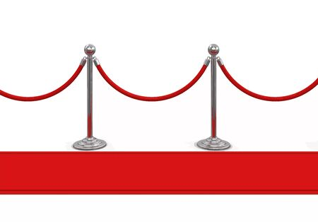 roped: Red Carpet and stanchions. Image with clipping path