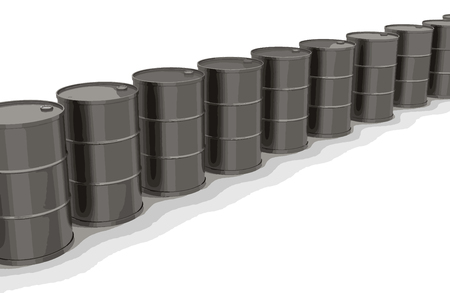 steel drum: Oil drums. Image with clipping path