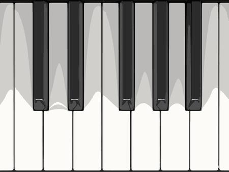 Digitale piano keyboard. Afbeelding met het knippen van weg Vector Illustratie