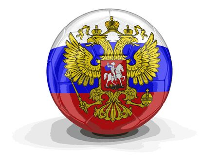 russian flag: Soccer football with Russian flag. Image with clipping path