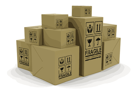 Many packages. Image with clipping path