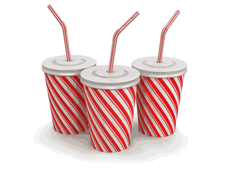 take out: Disposable cups. Image with clipping path