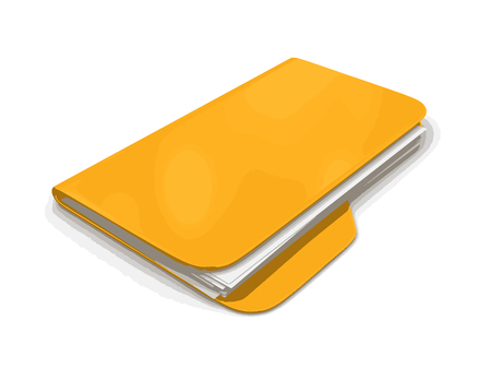 storage compartment: Folder and files. Image with clipping path Illustration