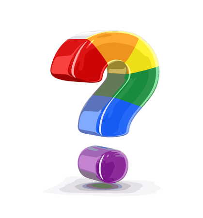 multi colored: Multi colored Big sign of question. Image with clipping path Illustration