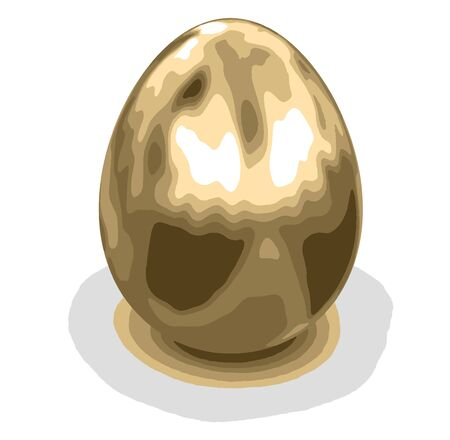 golden egg: Golden egg. Image with clipping path Illustration