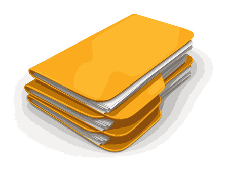 Folders and files. Image with clipping path