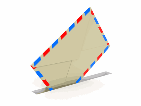 Letter. Image with clipping path Illustration