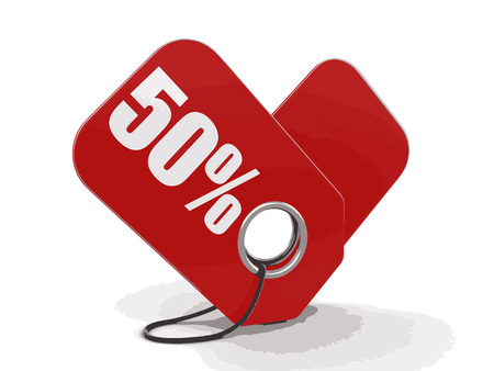 Label 50%. Image with clipping path
