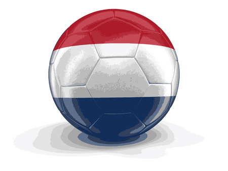 netherlands flag: Soccer football with Netherlands flag. Image with clipping path Illustration