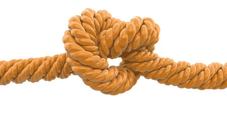Tied knot. Image with clipping path Illustration