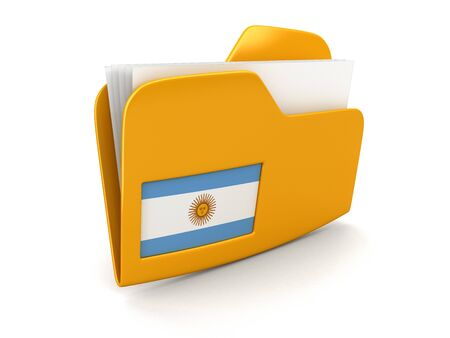 argentinian flag: folder and lists with Argentinian Flag. Image with clipping path