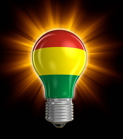 bolivian: Light bulb with Bolivian flag. Image with clipping path Stock Photo