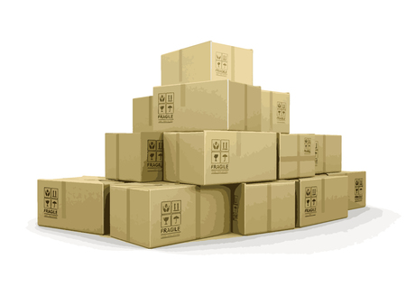 brittle: Many packages. Image with clipping path