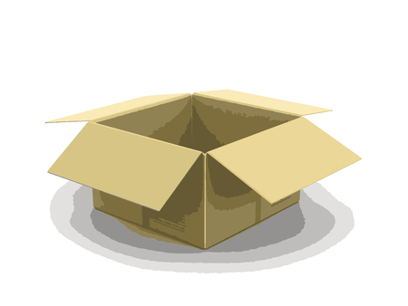 unpacking: Open package. Image with clipping path