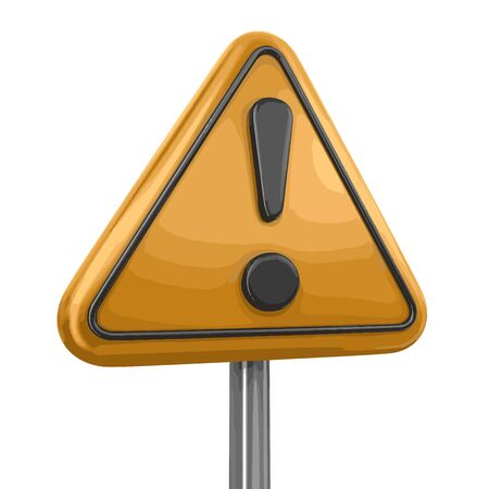 alerts: Alert Road sign. Image with clipping path