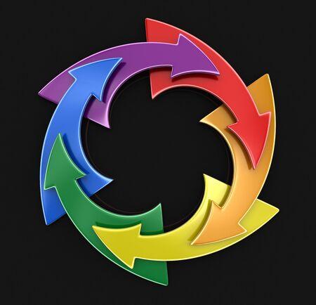 transexual: El color del gráfico circular. Imagen con el camino de recortes
