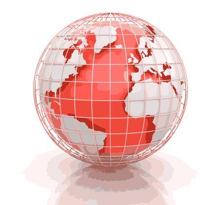 3d Globe. Image avec chemin de détourage