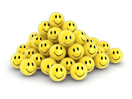 Smileys. Image with clipping path