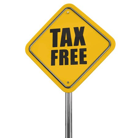free image: Tax free road sign. Image with clipping path