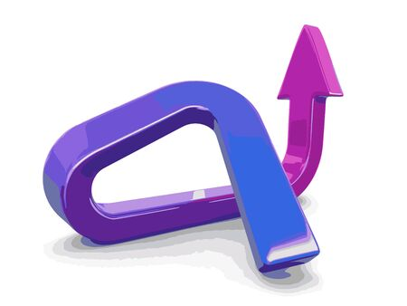 Arrow up. Image with clipping path