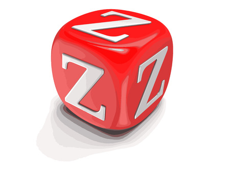 Letter Z. Image with clipping path