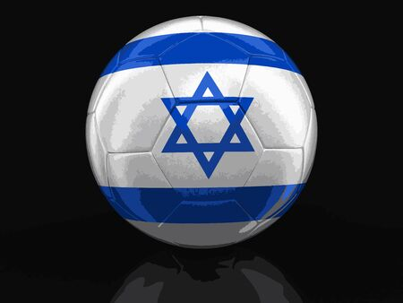 israeli flag: Soccer football with Israeli flag. Image with clipping path