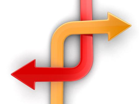 Two arrows.