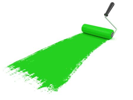 Paint roller. Image with clipping path Illustration