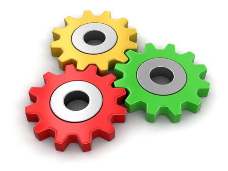Cogwheels . Bild mit Beschneidungspfad Standard-Bild - 74140240