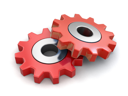 Cogwheels. Image with clipping path Reklamní fotografie
