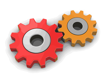 Cogwheels. Image with clipping path Illustration