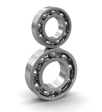 axle: Bearings. Image with clipping path Stock Photo