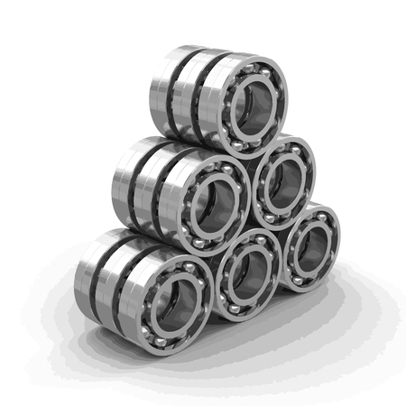 Bearings image with clipping path. Illustration