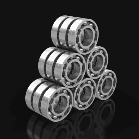 axle: Bearings. Image with clipping path Illustration