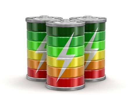 lithium: Batteries. Image with clipping path Stock Photo