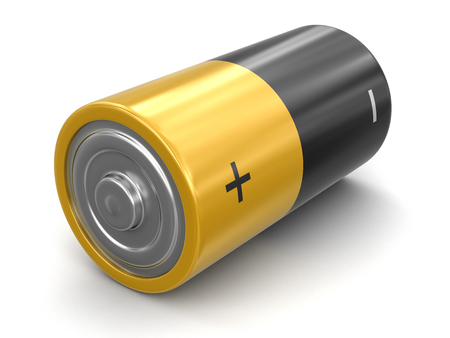 Batteries. Image with clipping path Standard-Bild