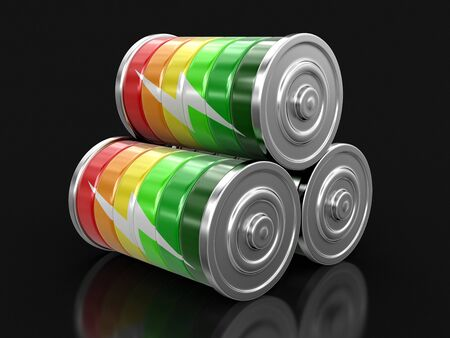 Batteries. Image with clipping path Stock Photo