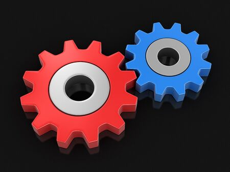 Cogwheels. Image with clipping path Stock Photo