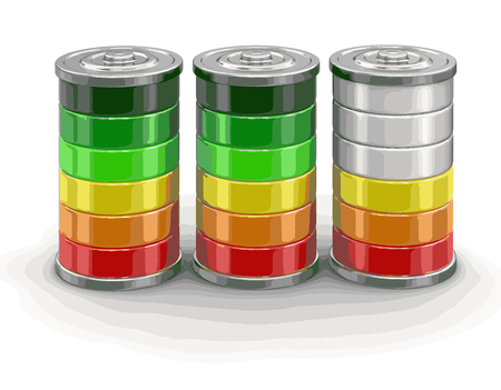 Batteries. Image with clipping path Ilustrace