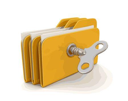 hoja de calculo: Carpeta y archivos con clave de devanado. Imagen con trazado de recorte