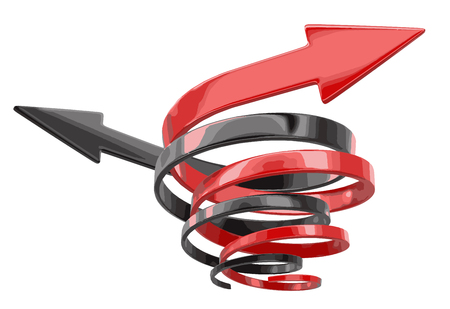 Spiral arrows. Image with clipping path