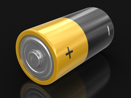 lithium: Battery. Image with clipping path