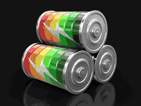Batteries. Image with clipping path Ilustração