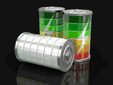 lithium: Batteries. Image with clipping path.