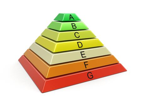 pyramid Chart. Image with clipping path Stock Photo
