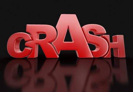 Word crash. Image with clipping path