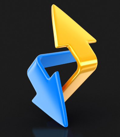 Two arrows. Image with clipping path Stock Photo