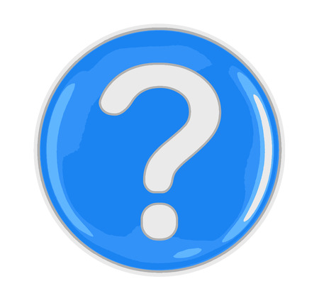 Button with Question Mark. Image with clipping path Illustration